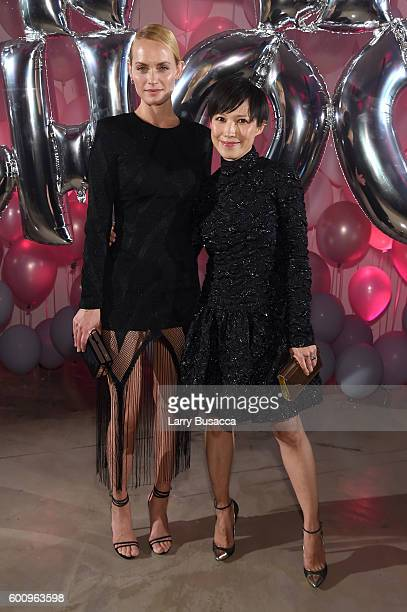 Amber Valletta and Jimmy Choo Creative Director Sandra Choi attend the Jimmy Choo 20th Anniversary Event during New York Fashion Week on September 8...
