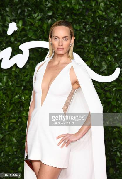 Amber Valletta arrives at The Fashion Awards 2019 held at Royal Albert Hall on December 02, 2019 in London, England.