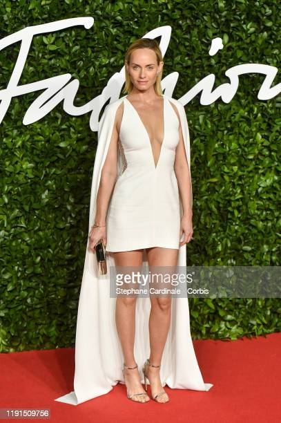 Amber Valletta arrives at The Fashion Awards 2019 held at Royal Albert Hall on December 02 2019 in London England