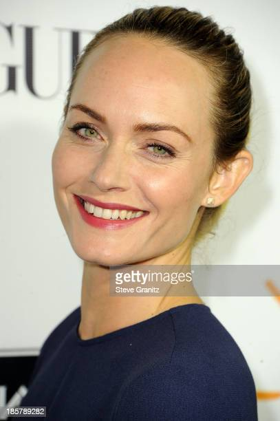 Amber Valletta arrives at the Gelila And Wolfgang Puck's Dream For Future Africa Foundation Gala at Spago on October 24, 2013 in Beverly Hills,...
