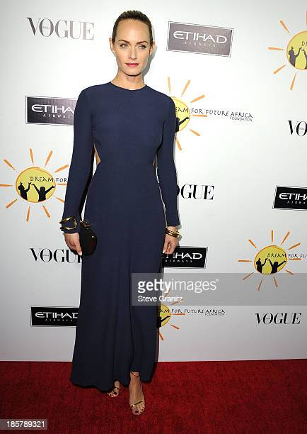 Amber Valletta arrives at the Gelila And Wolfgang Puck's Dream For Future Africa Foundation Gala at Spago on October 24 2013 in Beverly Hills...