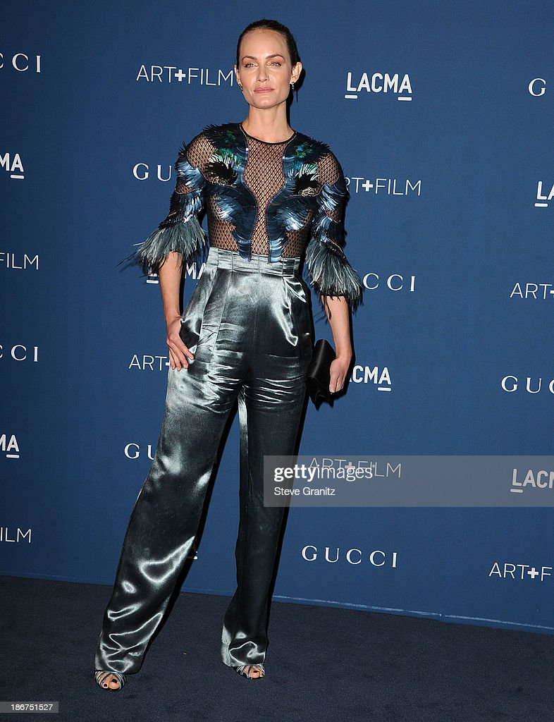 Amber Valletta arrives at the LACMA 2013 Art + Film Gala at LACMA on November 2, 2013 in Los Angeles, California.