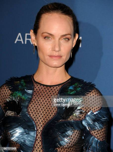 Amber Valletta arrives at the LACMA 2013 Art Film Gala at LACMA on November 2 2013 in Los Angeles California