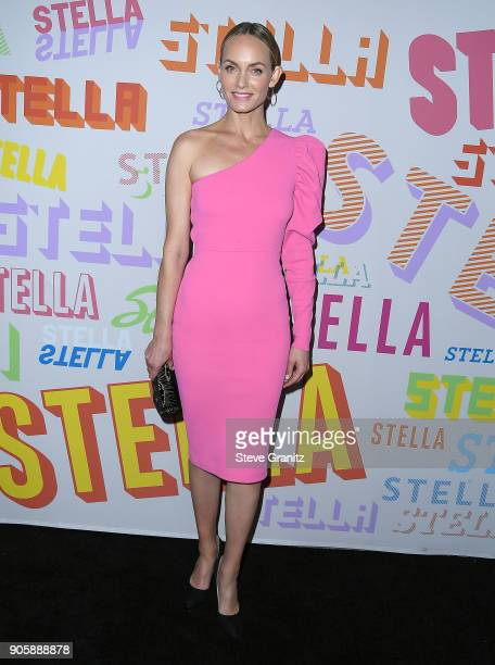 Amber Valletta arrives at the Stella McCartney's Autumn 2018 Collection Launch on January 16 2018 in Los Angeles California