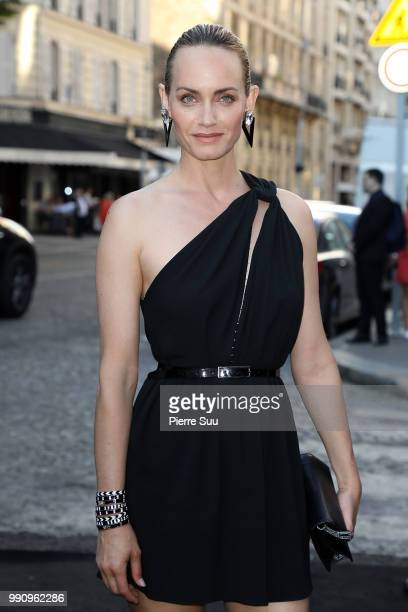 Amber Valletta arrives at the 'Vogue Foundation Dinner 2018' at Palais Galleria on July 3 2018 in Paris France