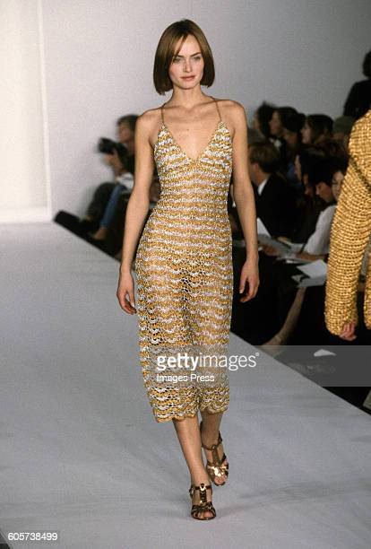 Amber Valletta at the Isaac Mizrahi Spring 1997 show circa 1996 in New York City