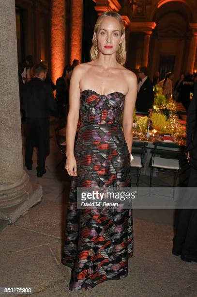 Amber Valletta attends a private dinner hosted by Livia Firth following the Green Carpet Fashion Awards Italia at Palazzo Marino on September 24 2017...