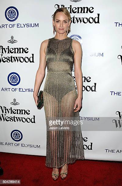 Amber Valletta attends Art of Elysium's 9th annual Heaven Gala at 3LABS on January 9 2016 in Culver City California