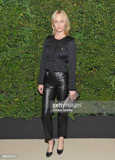 Amber Valletta attends Caroline De Maigret and Pharrell Williams dinner in celebration of CHANEL's Gabrielle Bag at Giorgio Baldi on April 6 2017 in...