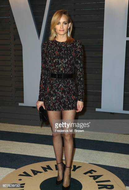Amber Valletta attends the 2018 Vanity Fair Oscar Party hosted by Radhika Jones at Wallis Annenberg Center for the Performing Arts on March 4, 2018...