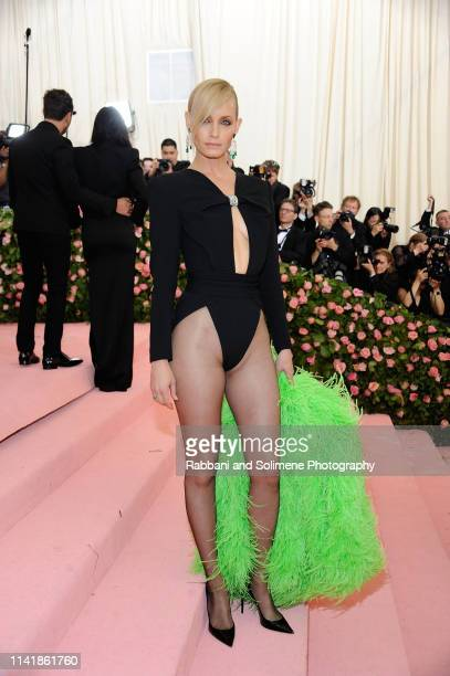 Amber Valletta attends The 2019 Met Gala Celebrating Camp Notes On Fashion Arrivalsat The Metropolitan Museum of Art on May 6 2019 in New York City