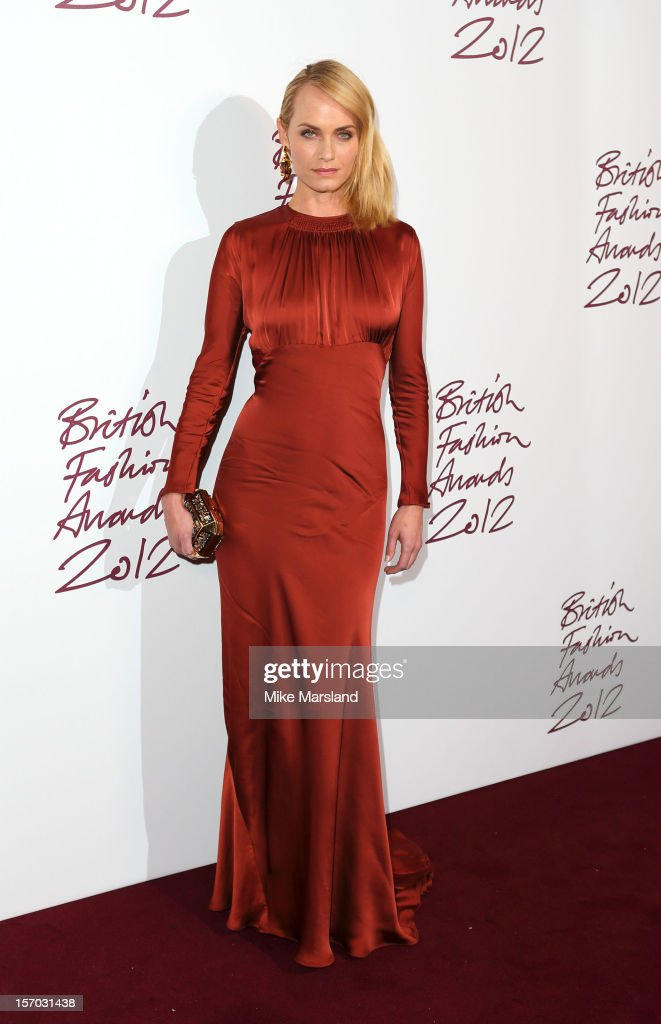 Amber Valletta attends the British Fashion Awards 2012 at The Savoy Hotel on November 27, 2012 in London, England.