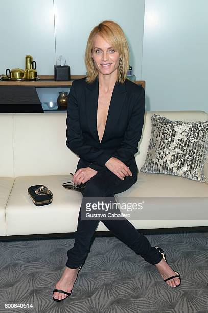 Amber Valletta attends the Etihad Lounge Opening With Amber Valletta during New York Fashion Week The Shows on September 8 2016 in New York City