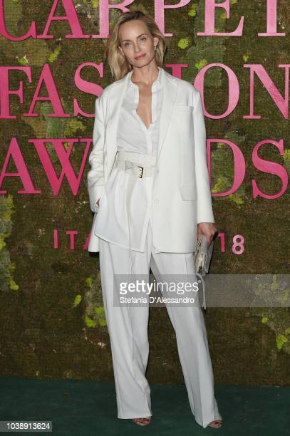 Amber Valletta attends the Green Carpet Fashion Awards at Teatro Alla Scala on September 23 2018 in Milan Italy