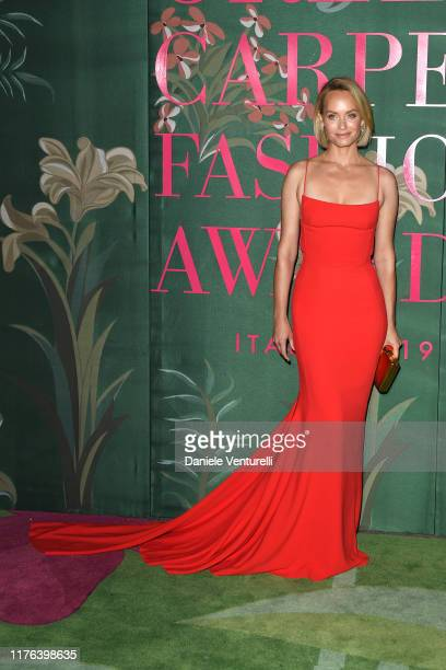 Amber Valletta attends the Green Carpet Fashion Awards during the Milan Fashion Week Spring/Summer 2020 on September 22 2019 in Milan Italy