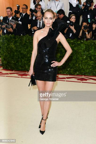 Amber Valletta attends the Heavenly Bodies Fashion The Catholic Imagination Costume Institute Gala at Metropolitan Museum of Art on May 7 2018 in New...
