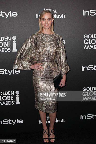 Amber Valletta attends The Hollywood Foreign Press Association And InStyle Celebrates The 2014 Golden Globe Awards Season at Fig Olive Melrose Place...
