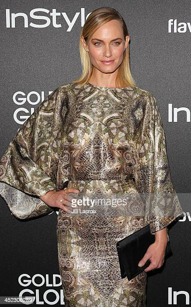 Amber Valletta attends The Hollywood Foreign Press Association And InStyle 2014 Miss Golden Globe Announcement/Celebration at Fig Olive Melrose Place...