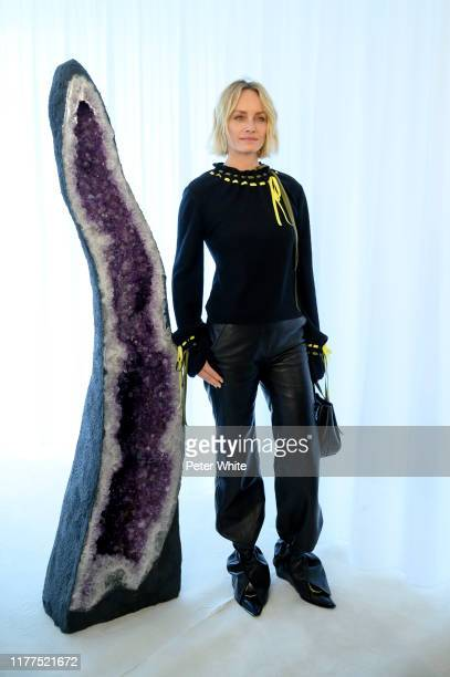 Amber Valletta attends the Loewe Womenswear Spring/Summer 2020 show as part of Paris Fashion Week on September 27, 2019 in Paris, France.