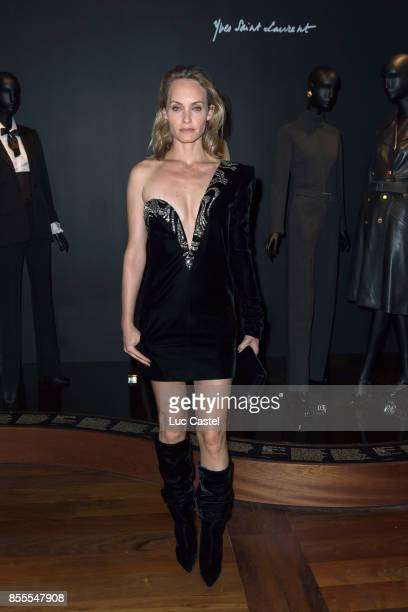 Amber Valletta attends the Opening Party at Yves Saint Laurent Museum as part of the Paris Fashion Week Womenswear Spring/Summer 2018 on September 28...
