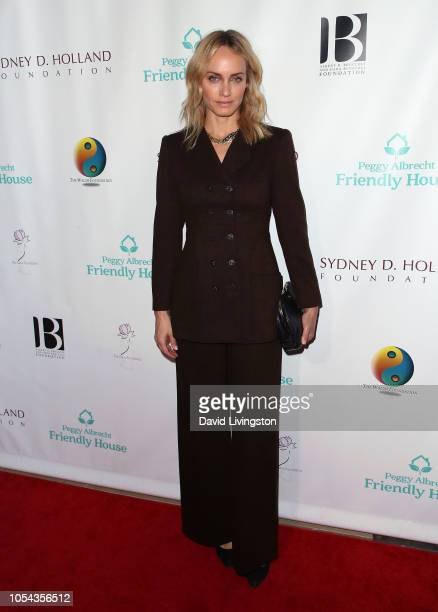 Amber Valletta attends the Peggy Albrecht Friendly House's 29th Annual Awards Luncheon at The Beverly Hilton Hotel on October 27 2018 in Beverly...