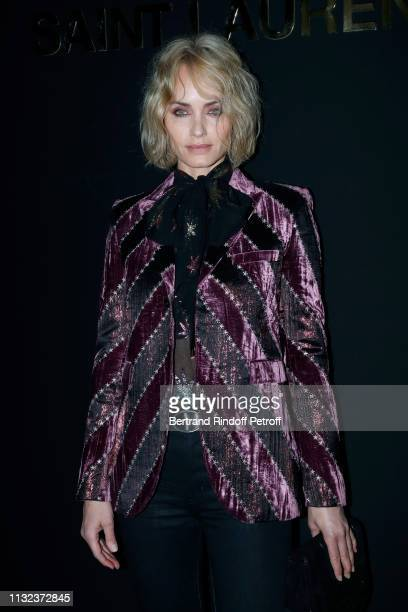 Amber Valletta attends the Saint Laurent show as part of the Paris Fashion Week Womenswear Fall/Winter 2019/2020 on February 26 2019 in Paris France