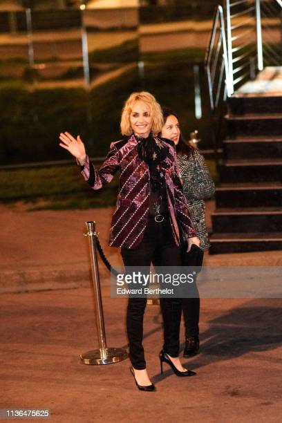 Amber Valletta attends the Saint Laurent show during Paris Fashion Week Womenswear Fall/Winter 2019/2020 on February 26 2019 in Paris France