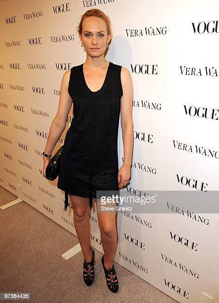 Amber Valletta attends the Vera Wang Store Launch at Vera Wang Store on March 2 2010 in Los Angeles California