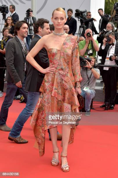 Amber Valletta attends the 'Wonderstruck' screening during the 70th annual Cannes Film Festival at Palais des Festivals on May 18 2017 in Cannes...