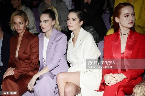 Amber Valletta Cara Delevingne Ashley Benson and Madelaine Petsch attend the BOSS fashion show during the Milan Fashion Week Fall/Winter 2020 2021 on...