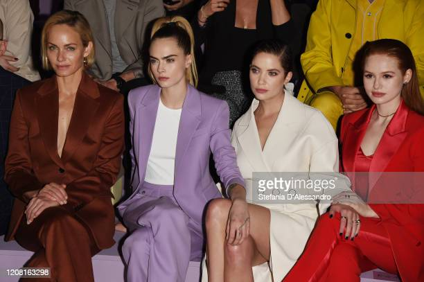 Amber Valletta Cara Delevingne Ashley Benson and Madelaine Petsch attend the Boss fashion show on February 23 2020 in Milan Italy