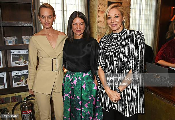 Amber Valletta Dame Natalie Massenet and Nadja Swarovski attend The Fashion Awards in partnership with Swarovski nominees' lunch hosted by the...