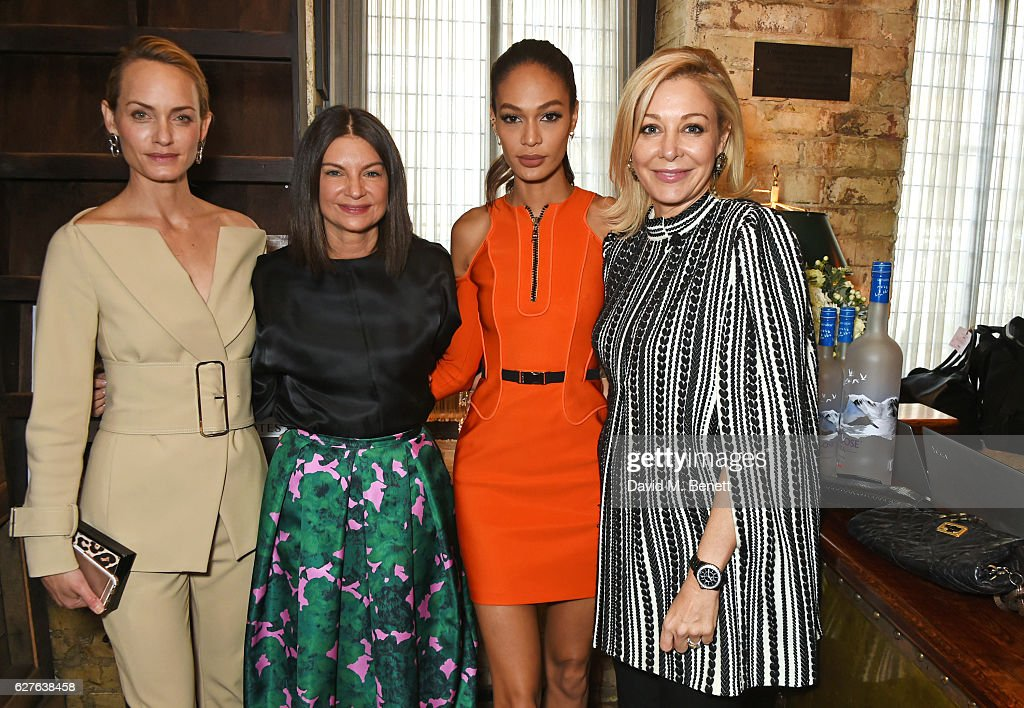 Amber Valletta, Dame Natalie Massenet, Joan Smalls and Nadja Swarovski attend The Fashion Awards in partnership with Swarovski nominees' lunch hosted by the British Fashion Council with Grey Goose at Little House Mayfair on December 4, 2016 in London, England.