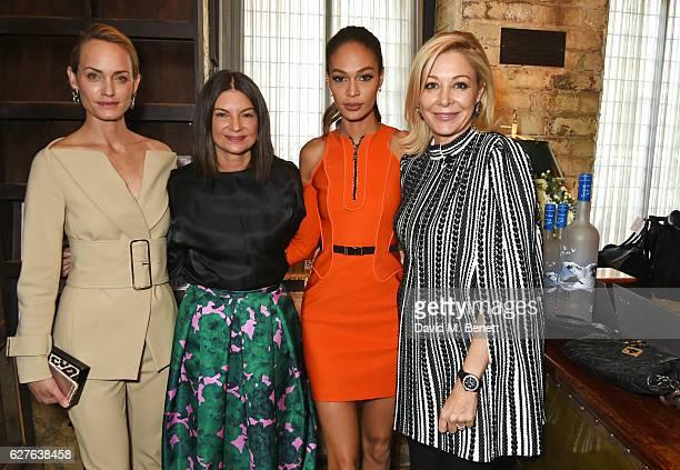 Amber Valletta Dame Natalie Massenet Joan Smalls and Nadja Swarovski attend The Fashion Awards in partnership with Swarovski nominees' lunch hosted...