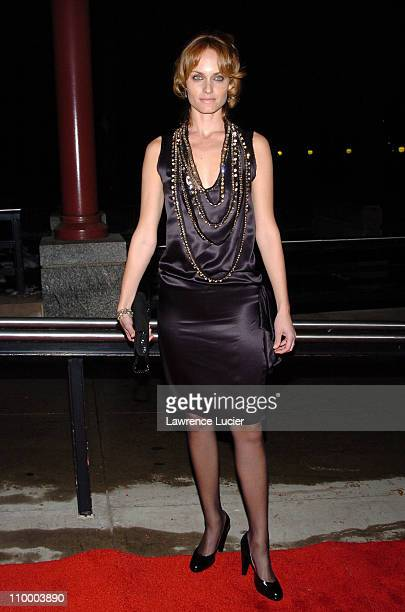 Amber Valletta during Hitch World Premiere Arrivals at Ellis Island in New York City New York United States