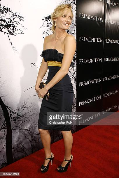 Amber Valletta during Premonition Los Angeles Premiere Red Carpet at Cinerama Dome in Hollywood California United States