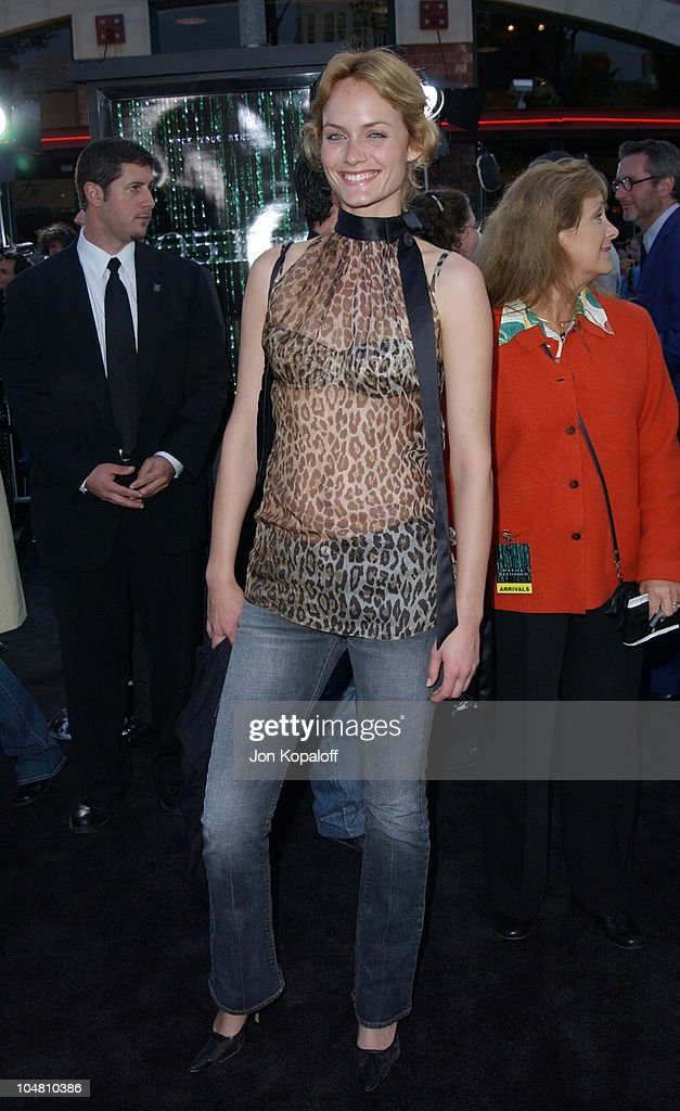 Amber Valletta during 'The Matrix Reloaded' Premiere - Arrivals at The Mann Village Theater in Westwood, California, United States.