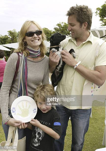 Amber Valletta husband Christian McCaw and her son Auden at MS Creations Photo by Lee Celano/WireImage for Silver Spoon