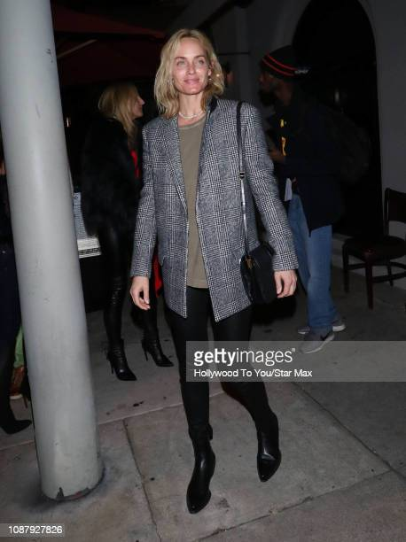 Amber Valletta is seen on January 23 2019 in Los Angeles CA