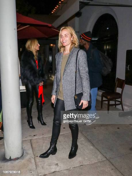 Amber Valletta is seen on January 23 2019 in Los Angeles California