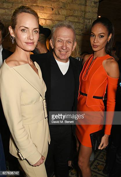 Amber Valletta JeanPaul Gaultier and Joan Smalls attend The Fashion Awards in partnership with Swarovski nominees' lunch hosted by the British...