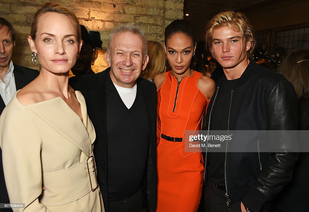 Amber Valletta, Jean-Paul Gaultier, Joan Smalls and Jordan Barrett attend The Fashion Awards in partnership with Swarovski nominees' lunch hosted by the British Fashion Council at Little House Mayfair on December 4, 2016 in London, England.