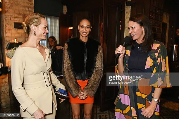 Amber Valletta Joan Smalls and Caroline Rush attend The Fashion Awards in partnership with Swarovski nominees' lunch hosted by the British Fashion...