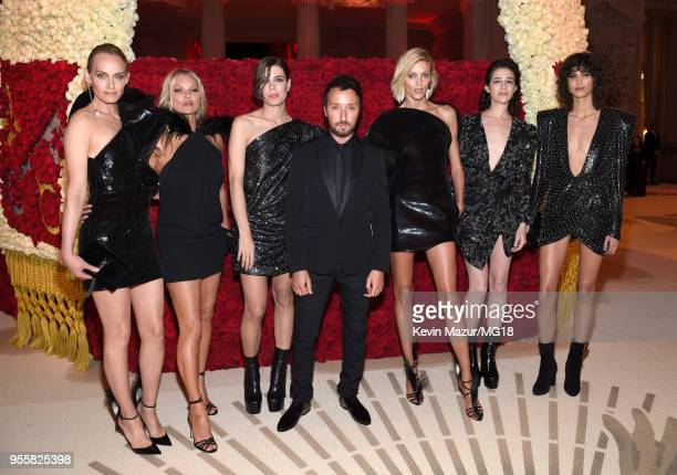 Amber Valletta Kate Moss Charlotte Casiraghi Anthony Vaccarello Anja Rubik Charlotte Gainsbourg and Mica Arganaraz attend the Heavenly Bodies Fashion...