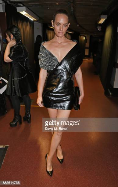 Amber Valletta poses backstage at The Fashion Awards 2017 in partnership with Swarovski at Royal Albert Hall on December 4 2017 in London England