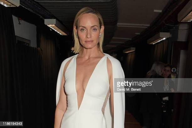 Amber Valletta poses backstage stage during The Fashion Awards 2019 held at Royal Albert Hall on December 2 2019 in London England