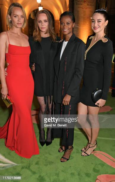 Amber Valletta Stella McCartney Letitia Wright and Shailene Woodley all wearing Stella McCartney attend The Green Carpet Fashion Awards Italia 2019...