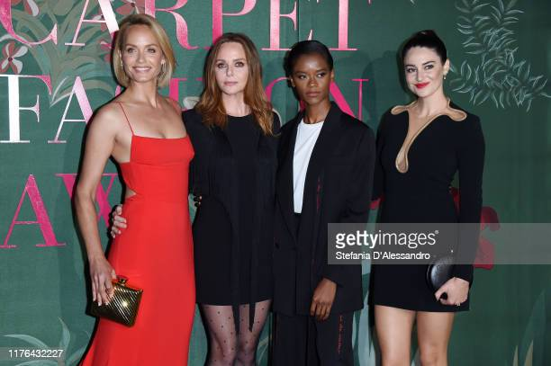 Amber Valletta, Stella McCartney, Letitia Wright and Shailene Woodley attend the Green Carpet Fashion Awards during the Milan Fashion Week...