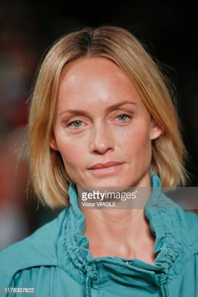 Amber Valletta walks the runway during the Stella McCartney Ready to Wear Spring/Summer 2020 fashion show as part of Paris Fashion Week on September...