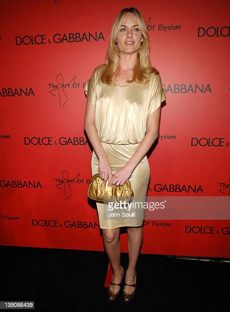 Amber Valletta wearing Dolce Gabbana during Dolce Gabbana and Penelope Cruz Announce Their Charity Auction to Benefit The Art of Elysium Arrivals at...
